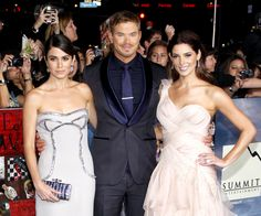 Nikki Reed, Kellan Lutz and Ashley Greene posed together at the world premiere of 'The Twilight Saga: Breaking Dawn - Part 2' held at the Nokia L.A. Live Theatre in Los Angeles, Calif., on Nov. 12.