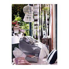 BUSSAN Fauteuil poire, intérieur/extérieur - gris - IKEA