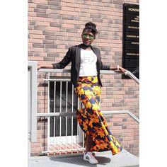 An afternoon at the Museum is always Time well spent. #oriwodesign #hamburg #madeingermany #vliscofabric #voilaforyoubyvlisco #ankarafashion #artofthebrick #nathansawaya #lego #legosteine #art #kunstaustellung #ankaramaxiskirt #maxiskirt #africanwaxprint #africanskirt #graphictshirt #africasfinest #blackblazer #ootd #sneakers #trainers #adidas #choker
