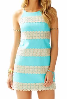 Lilly Pulitzer Annabelle Shift Dress in Shorely Blue Annabelle Stripe
