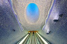Toledo Metro Station, Naples, Italy