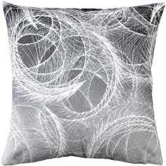 Pillow Decor Feather Swirl Gray Throw Pillow 20x20 (2,795 PHP) ❤ liked on Polyvore featuring home, home decor, throw pillows, pillows, contemporary home decor, grey toss pillows, grey throw pillows, grey accent pillows and square throw pillows