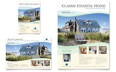 Coastal Real Estate - Flyer & Ad Template Design Sample