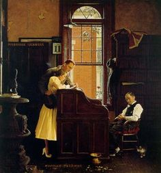 Marriage License - Norman Rockwell