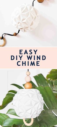 A super quick and easy DIY project to create your very own customized wind chime! #sugarandcloth #windchime #diywindchime #backyard #outdoors #yard #backyarddecor