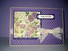 Stampin Up products; Elements of Style, Teeny Tiny Sentiments, Newsprint DSP, Soft Subtles Patterns DSP Stack, Crochet Trim Ribbon