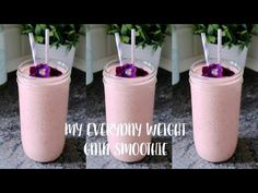 Weight Gain Smoothie Recipes Ideas 52 Ideas For 2019 Gain Weight Smoothie, Healthy Weight Gain, Lose Weight, Veggie Smoothies, Smoothie Recipes, Yummy Smoothies, Shake Recipes, Weight Lifting Diet, Weight Watchers Lunches
