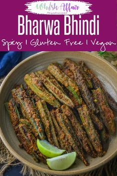 Bharwa Bhindi is lady's fingers stuffed with a tangy and spicy masala mix. It is easy to make, vegan and gluten free. Here is how to make Bharwa Bhindi Recipe. Easy Healthy Recipes, Vegetarian Recipes, Easy Meals, Cooking Recipes, Vegan Vegetarian, Tempeh, Tofu, Bhindi Masala Recipe, Biryani Recipe