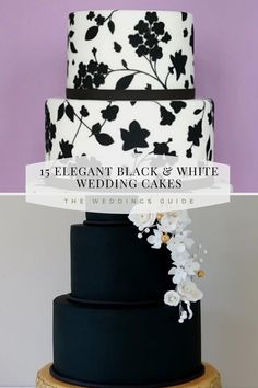 Elegant Black and White Wedding Cakes #rusticcakes Pretty Wedding Cakes, Amazing Wedding Cakes, Wedding Cake Rustic, Diy Wedding, Dream Wedding, Wedding Ideas, Black White Cakes, Black And White Wedding Cake, White Wedding Cakes