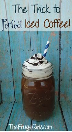The Secret to Perfect Iced Coffee! ~ from TheFrugalGirls.com {you'll love this little trick!!}
