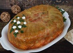 Töltött káposzta torta - MindenegybenBlog Hungarian Recipes, Hungarian Food, Vegetable Casserole, Cabbage Recipes, Food Pictures, Camembert Cheese, Dairy, Pie, Favorite Recipes