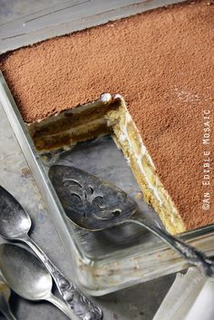 Easy No-Cook Tiramisu is easy enough to make any night, but special enough for a special occasion. via @anediblemosaic