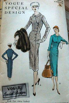 Vogue Special Design S-4665 Dress 1956 Sz14/32/35 c/c 25+ 15bds 10/27/14 oncillakat