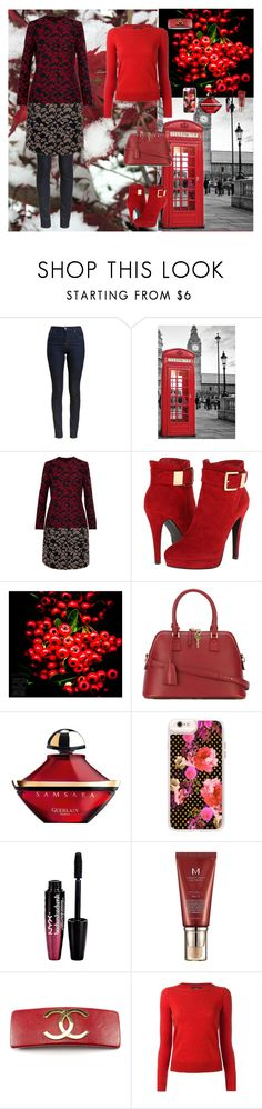 """Bright Elements"" by oksana-kolesnyk ❤ liked on Polyvore featuring Barbour, Etro, 2 Lips Too, Maison Margiela, Guerlain, Casetify, NYX, Missha, Chanel and Isabel Marant"