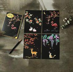 Animals Postcard Scratch Kit The post Animals Postcard Scratch Kit & Postcard Scratch paintings appeared first on Surprise destination . Scrape Painting, Painting & Drawing, Postcard Book, Postcard Size, Kit, Paper Child, Scratch Art, Post Animal, Drawing Board