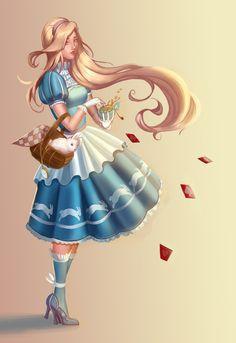 Alice in Wonderland, Teodora K on ArtStation at https://castonia.artstation.com/projects/rmmeE