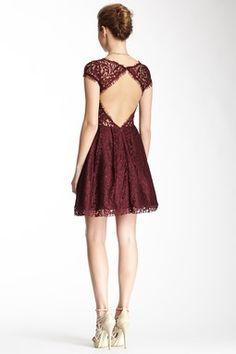 HauteLook   A.B.S. by Allen Schwartz: A.B.S. by Allen Schwartz Lace Back Cutout Dress