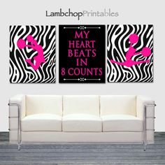 My Heart beats in 8 Counts, Cheerleading Set of Hot Pink, Cheerleader Wall… Cheerleading Bedroom, Cheerleading Gifts, Cheer Gifts, Cheer Mom, Room Ideas Bedroom, Girl Bedroom Designs, Bedroom Styles, Girls Bedroom, Zebra Decor