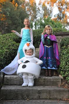 Frozen Group Costume: Elsa, Anna and Olaf... Coolest Halloween Costume Contest