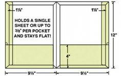 Die Cut Template for Conformer® Expanding 2 Pocket Reinforced Folder