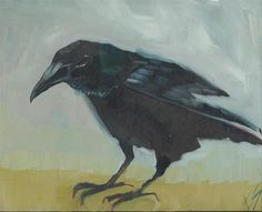 "Daily Paintworks - ""Raven"" - Original Fine Art for Sale - © Elizabeth See"