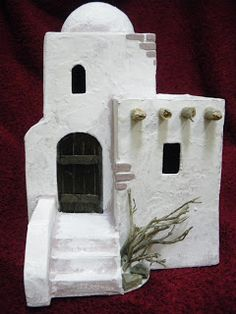 He fabricado varios modelos diferentes de casitas para belenes, totalmente artesanales. Para su elaboración he usado cartón, yeso, madera y ... Christmas Manger, Christmas Nativity Scene, Christmas Villages, Christmas Crafts, Christmas Decorations, Wood Crafts, Diy And Crafts, Crafts For Kids, Diy Nativity