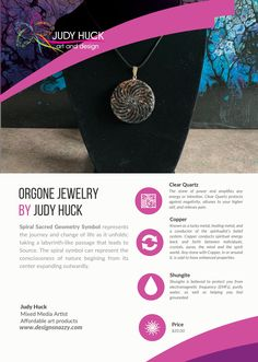 Orgone jewelry by Judy Huck Sacred Geometry Symbols, Affordable Art, Clear Quartz, Framed Art Prints, Washer Necklace, Jewelry, Design, Jewlery, Jewerly
