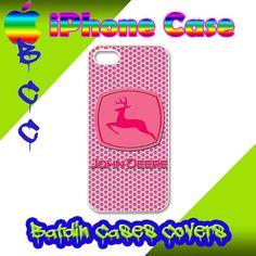John Deere Pink Pinkish Girl Diesel Power iPhone 5 Back by BatDin, $17.50