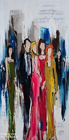 Kimberly Kiel, 'Tell it Like it is', 18'' x 36'' | Galerie d'art - Au P'tit Bonheur - Art Gallery