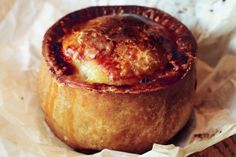 Melton Mowbray style pork pie - I like the simplicity of the ingredients. For individual pies. Bake at Gas 4 for one and a half hours. When baked, remove from the oven and allow to cool. Pork Pie Recipe, Pork Recipes, British Meat Pie Recipe, Pastry Recipes, Cooking Recipes, Cake Recipes, Superfood, Savory Pastry, Savoury Pies