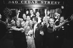 Love this enthusiastic wedding party!  Photo by Chris K. #MinneapolisWeddingPhotographers #WeddingParty