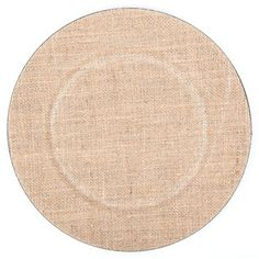"Complete a shabby-chic table setting with this unique 13"" Burlap & Plastic Charger! The black plastic plate is covered in natural burlap, perfect for a country-themed dinner party, for coordinating with existing rustic dining room decor, or for a wedding or special event!    	Dimensions:    	  		Width: 13"""