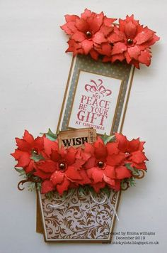 That's Life: May Peace Be Your Gift At Christmas Flower Pot card with a hidden message inside