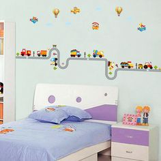BAIYUN Removable Peel Vinyl Wall Stickers Home decoration for Kids Baby Rooms Nursery Decals >>> Learn more by visiting the image link. Wall Stickers Murals, Vinyl Wall Stickers, Wall Decals, Car Stickers, Nursery Decals, Nursery Room Decor, Nursery Boy, Kids Room Paint, Kids Rooms