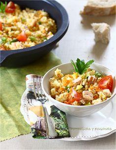 Cous-cous con verduras y pez espada.   POTINGUES Y FOGONES