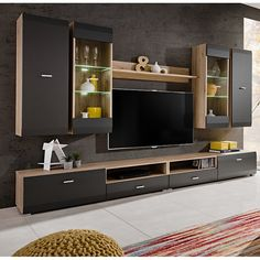 cliff entertainment center home office design, modern tv wall Tv Unit Decor, Tv Wall Decor, Room Decor, Tv Unit Furniture, Entertainment Furniture, Ikea Furniture, Painting Furniture, Furniture Stores, Furniture Makeover