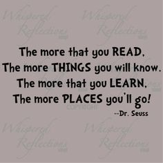 Reading teaches you more then you think..
