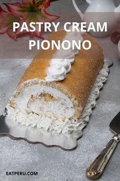 If you're entertaining guests and want to impress them, this is a show stopper. One of the tastiest desserts ever published on Eat Peru. Not only does it look impressive but also it tastes divine. #PeruvianSpongeCake #SpongeCake #Pionono #PeruvianDessert #PastryCream Peruvian Desserts, Peruvian Recipes, Easy Desserts, Delicious Desserts, Sponge Cake, Cake Decorating, Tasty, Entertaining