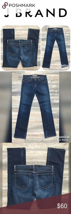 """J BRAND Cigarette Leg Jeans Size 28.  Orig $228! These are a pair of LIKE NEW J BRAND Cigarette Leg Jeans in a Size 28.  The inseam is approximately 32"""" and rise 8"""".  These jeans are in GOOD CONDITION and originally $228! J Brand Jeans"""