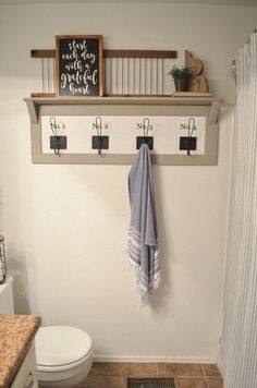 How to decorate your bathroom. Here are some tips for cute farmhouse bathroom organization. Pretty and functional are key.