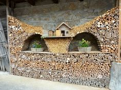 Another firewood work of art. | Firewood stacking | Pinterest