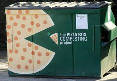 Good sources and facts: One of the pizza box composting project bins near Bragaw dorm on the N. State campus in Raleigh. Pizza boxes are not recyclable. State University started the project a year ago and has collected more than pizza boxes. Nc State University, Pizza Boxes, Pizza Party, Craft Beer, Composting, Education, Learning, Dorm, Recycling Projects