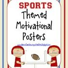 These motivational posters are perfect for any classroom! Especially for the sports themed classroom! I put mine on clipboards and hung the clip bo...