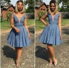 Shweshwe Dresses for Women - Reny styles South African Wedding Dress, African Bridesmaid Dresses, Latest African Fashion Dresses, African Men Fashion, African Attire, African Dress, Ankara Dress, Ankara Rock, Agbada Styles