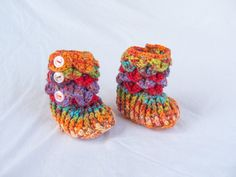 Crochet baby booties baby girl baby shoes by LittleMommaBoutique, $30.00