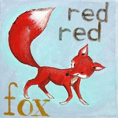 The Red Red Fox PRINT by JAustinRyan on Etsy, $10.00
