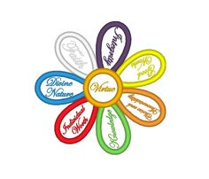 YW Young Women Values Colors Flower Applique LDS Embroidery Machine Design by OCDEmbroidery on Etsy