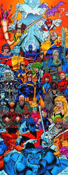 X-Men (by Jim Lee, como los conocí en mi adolescencia. Auuu...).