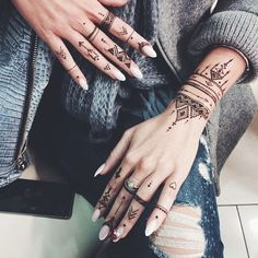 African Tribal Mehndi Hand Tattoo - really love this style, but have to be careful to design it so it's not appropriating another culture and the significance of this design.
