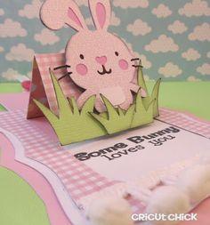 Cricut Easter pop up card.  Adorable